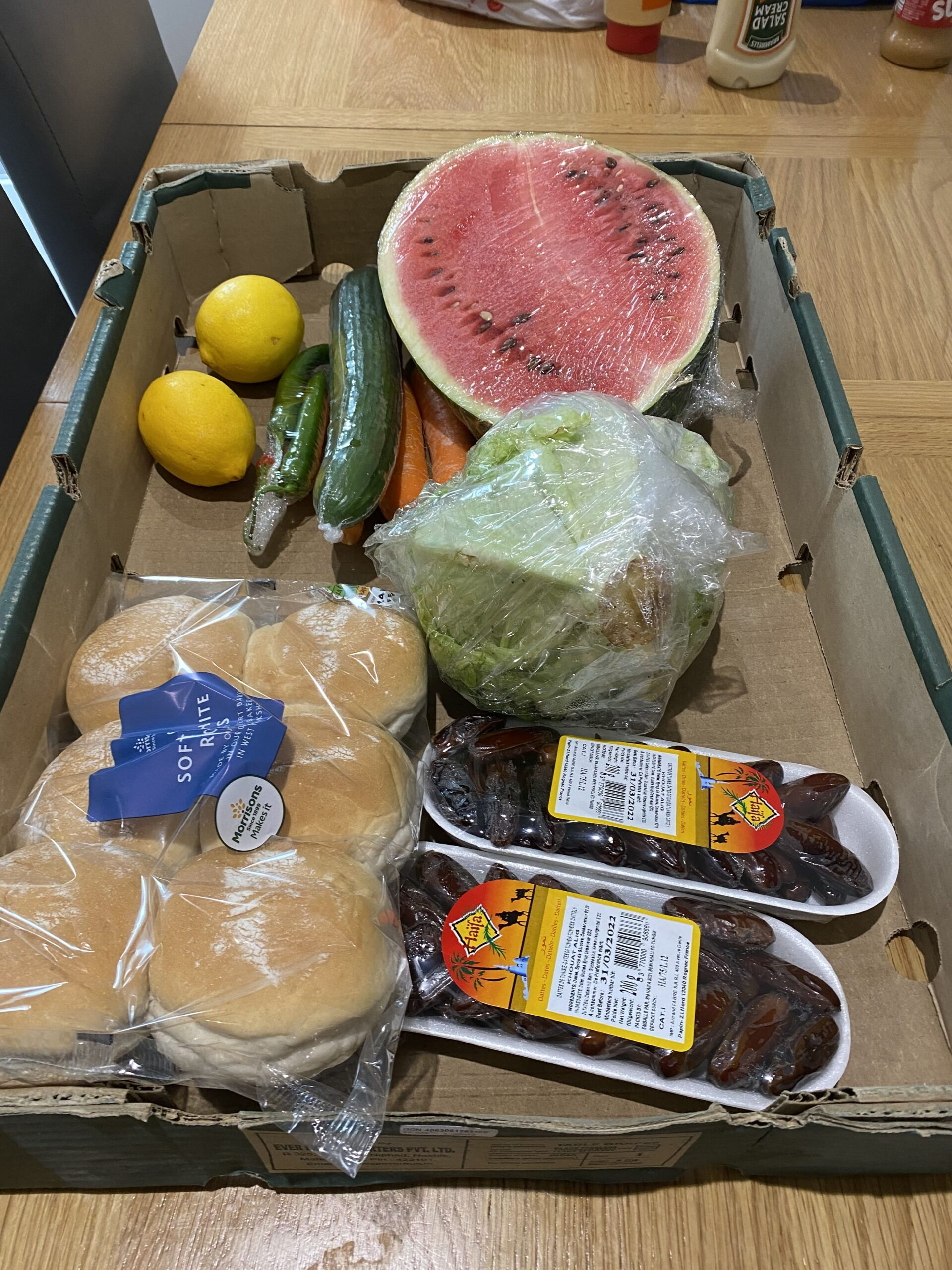Ingredients for Eid meal